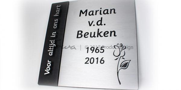 Aluminium memorial plate
