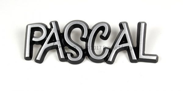 Pascal aluminium font style