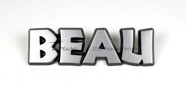 Beau aluminium font style