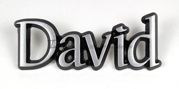 David aluminium font style