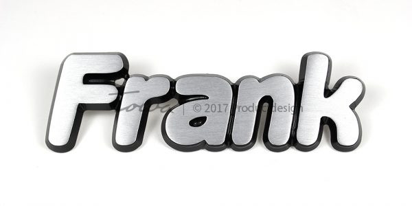 Frank aluminium font style