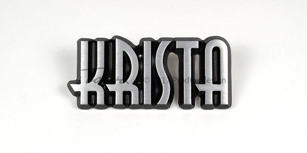Krista aluminium font style