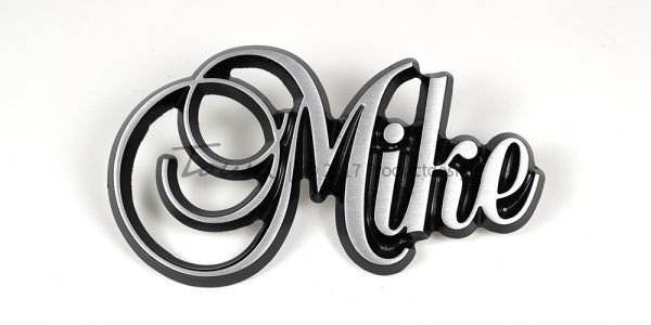Mike aluminium font style