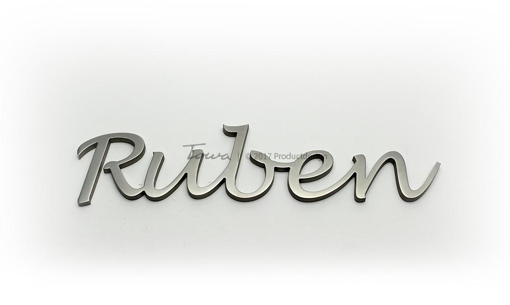 rvs grafsteen belettering