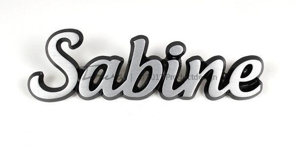 Sabine aluminium font style