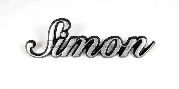 Simon aluminium font style