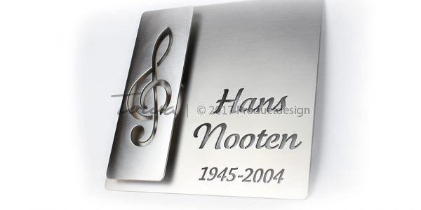Stainless steel memorial plates