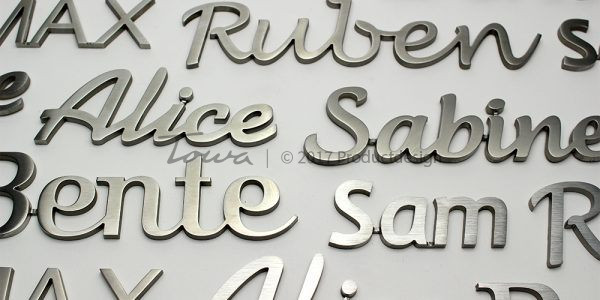 Stainless steel Fonts